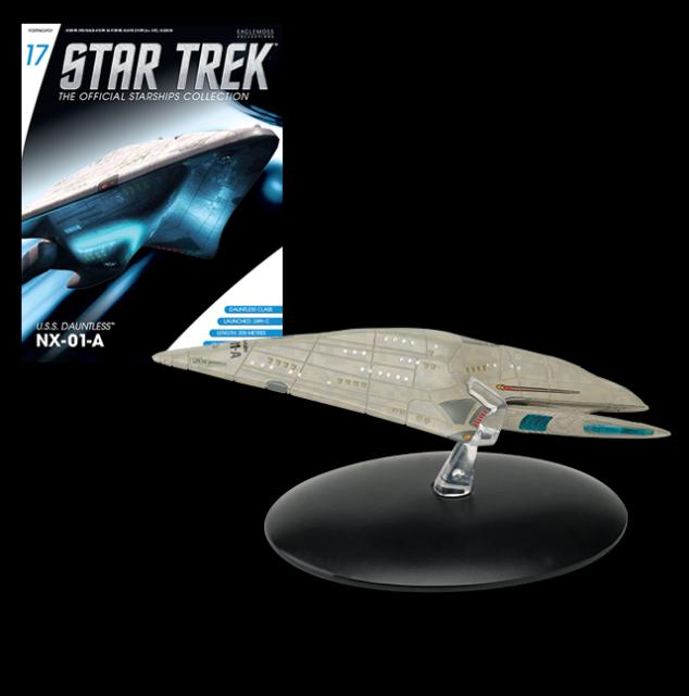 Eaglemoss Star Trek #017 USS Dauntless NX-01-A Starship